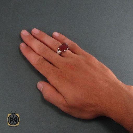 انگشتر عقیق قرمز مردانه – کد ۸۳۱۴
