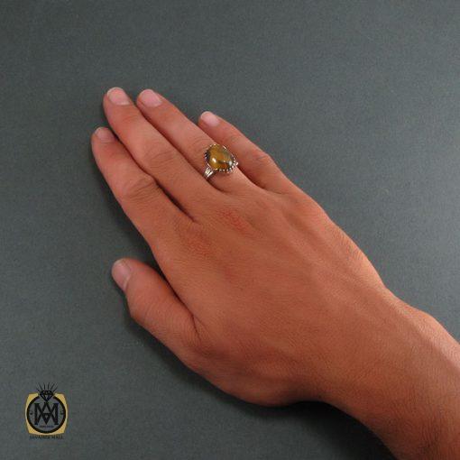 انگشتر چشم ببر مردانه اصل و معدنی - کد 8315 - 5 199 510x510