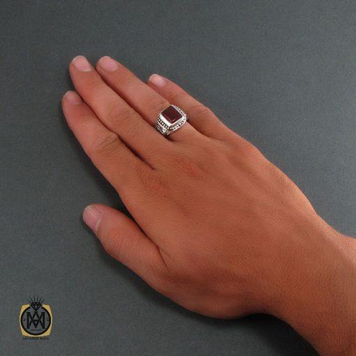 انگشتر عقیق قرمز مردانه - کد 8319 - 5 203 510x510