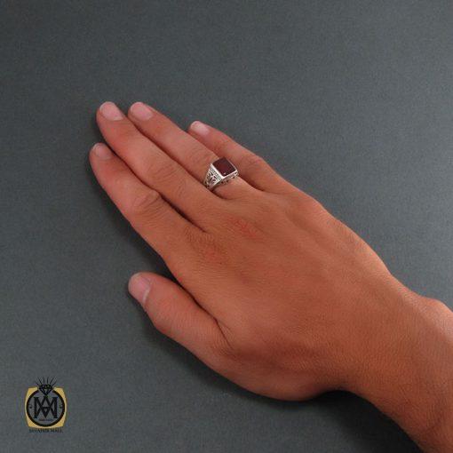انگشتر عقیق قرمز مردانه - کد 8321 - 5 205 510x510