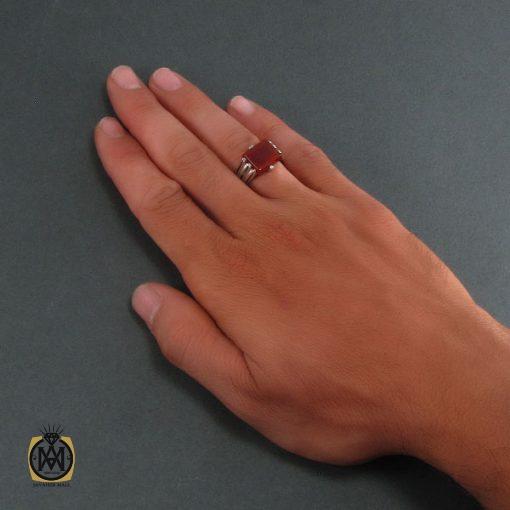 انگشتر عقیق قرمز مردانه – کد ۸۳۲۹