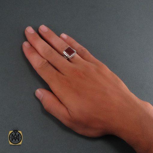 انگشتر عقیق قرمز مردانه – کد ۸۳۴۲