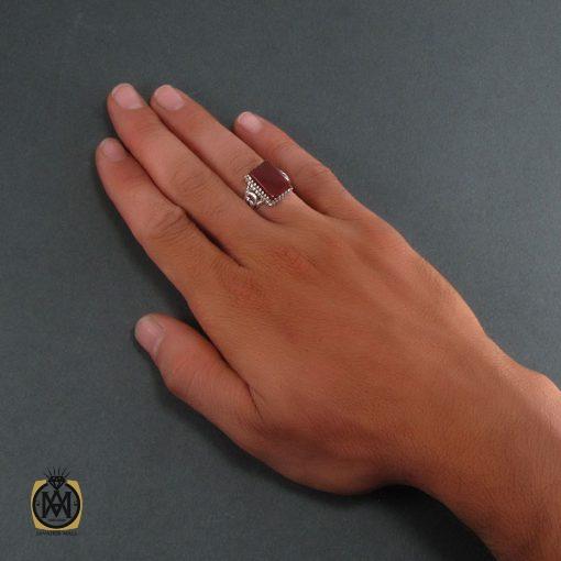 انگشتر عقیق قرمز مردانه - کد 8344 - 5 228 510x510