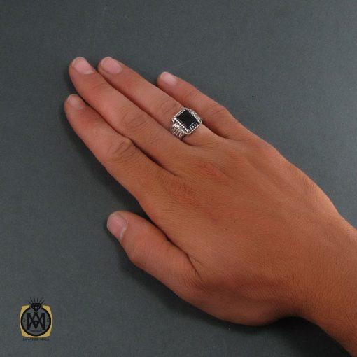 انگشتر عقیق سیاه مردانه – کد ۸۳۴۹