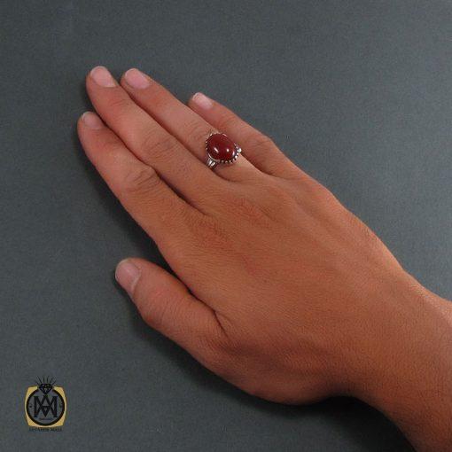 انگشتر عقیق قرمز مردانه – کد ۸۳۵۰