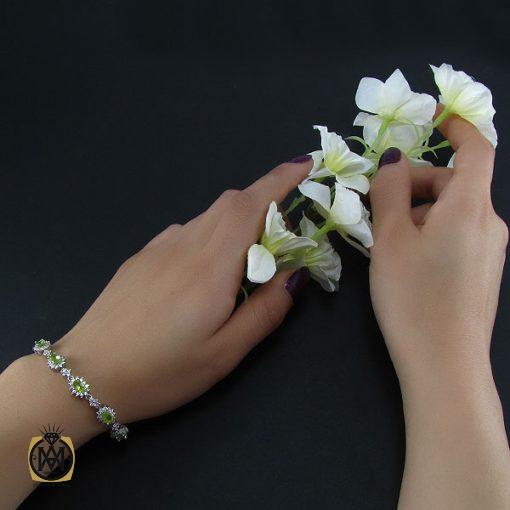 دستبند زبرجد زنانه طرح شکوه – کد ۱۰۳۷