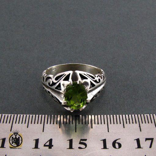 انگشتر نقره مردانه با نگین زبرجد - کد 8172 - 5 7 510x510
