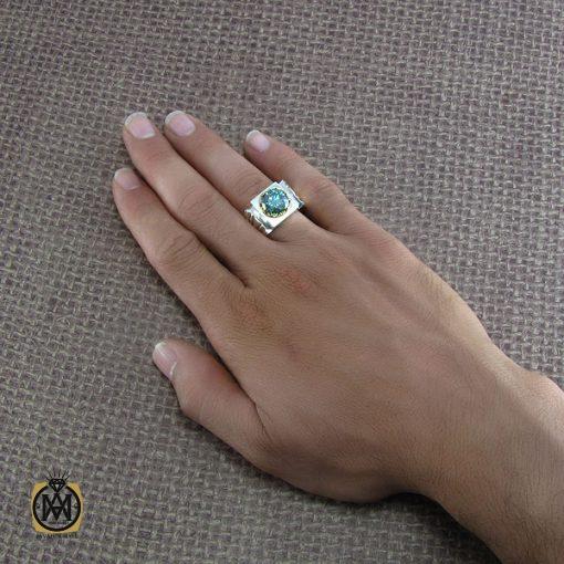 انگشتر موزانایت مردانه – کد ۸۲۰۲