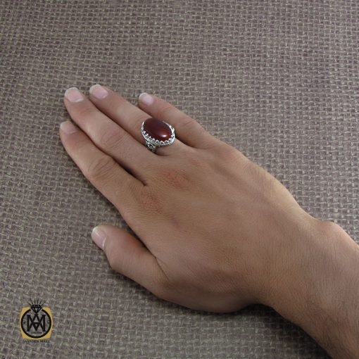 انگشتر عقیق یمن مردانه – کد ۸۲۱۲