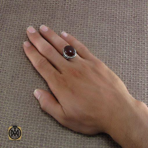 انگشتر عقیق یمن مردانه – کد ۸۲۱۳