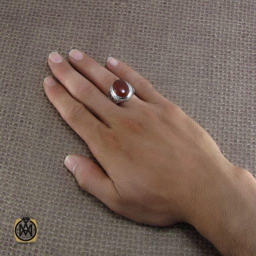 انگشتر عقیق یمن مردانه دست ساز – کد ۸۲۱۶