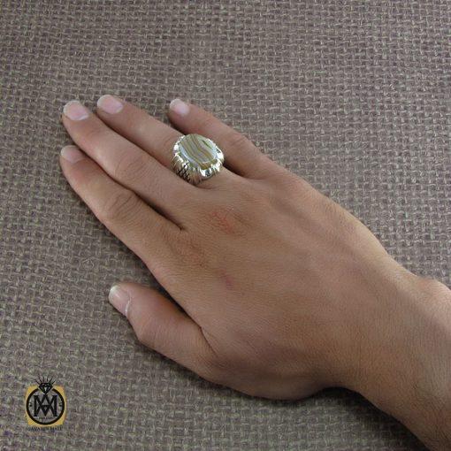 انگشتر عقیق سلیمانی مردانه – کد ۸۲۱۸