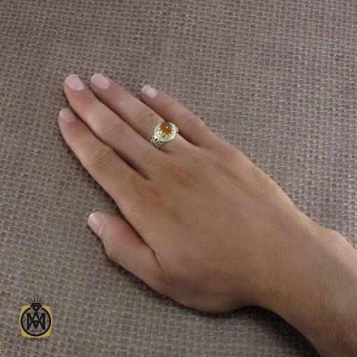 انگشتر عقیق یمن مردانه – کد ۸۲۱۹