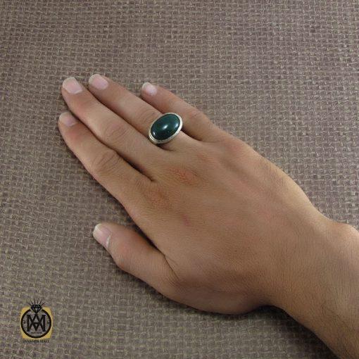 انگشتر عقیق سبز مردانه – کد ۸۲۲۴
