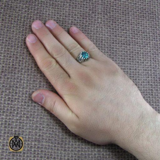 انگشتر نقره مردانه با نگین توپاز – کد ۸۱۷۵