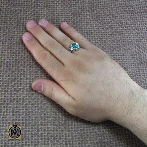 انگشتر توپاز سبز مردانه خوش رنگ و معدنی - کد 8177 - 7 8 510x510