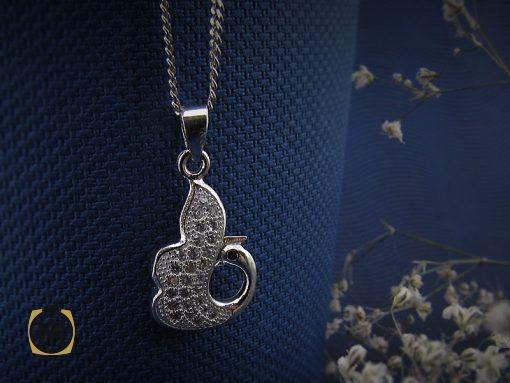 مدال نقره زنانه طرح یاس – کد ۳۰۱۶