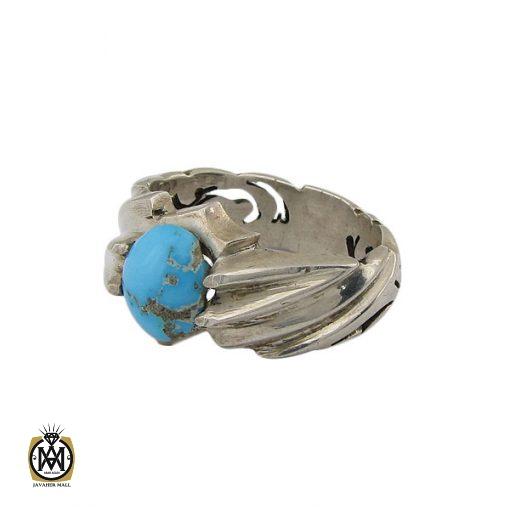 انگشتر فیروزه نیشابوری مردانه اصل و معدنی - کد 8395 - 1 109 510x510