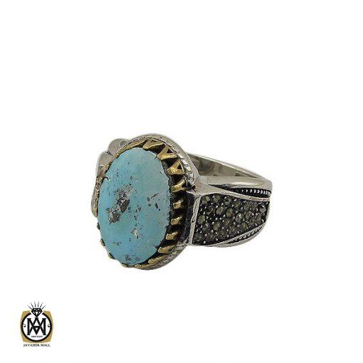 انگشتر فیروزه نیشابوری مردانه - کد 8398 - 1 112 510x510