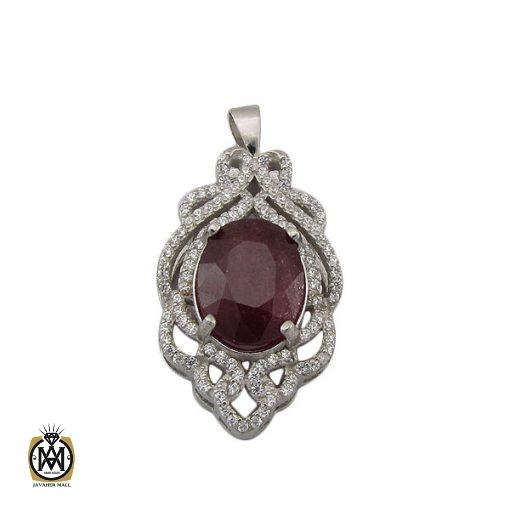 مدال یاقوت سرخ زنانه طرح دریتا - کد 3082 - 1 193 510x510