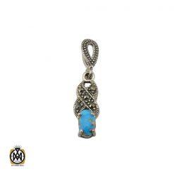 مدال فیروزه نیشابوری و مارکازیت زنانه طرح ماهناز - کد 3097 - 1 205 247x247