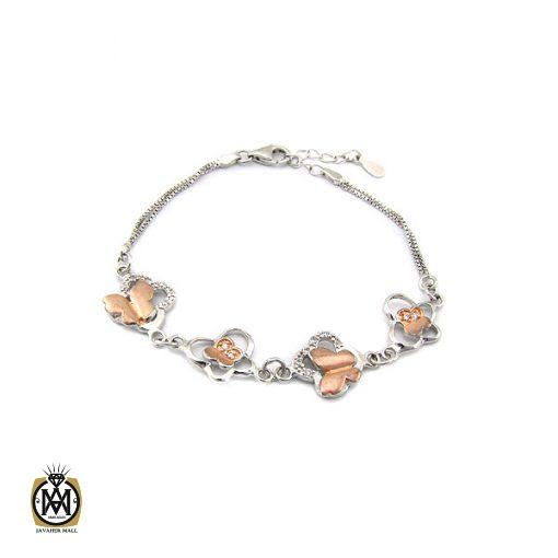 دستبند نقره زنانه طرح پروانه – کد۱۰۷۵