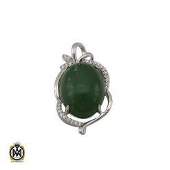 مدال یشم زنانه طرح ساغر - کد 3102