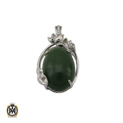 مدال یشم زنانه اصل و معدنی طرح افسانه – کد ۳۰۹۹