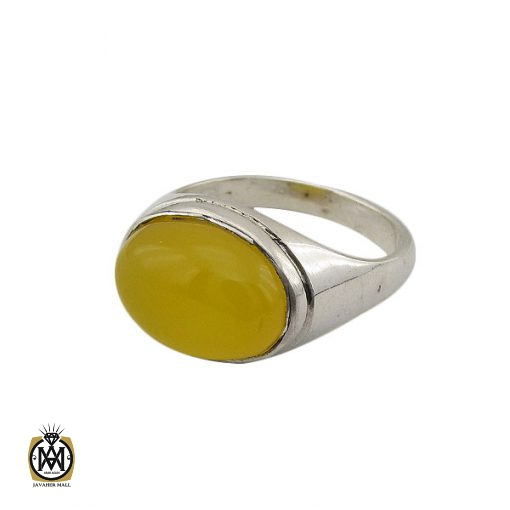 انگشتر عقیق زرد با حکاکی شرف الشمس مردانه - کد 8375 - 1 41 510x510
