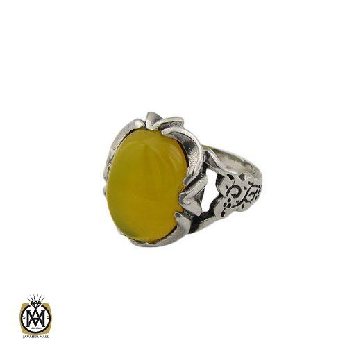 انگشتر عقیق زرد با حکاکی شرف الشمس مردانه - کد 8376 - 1 42 510x510