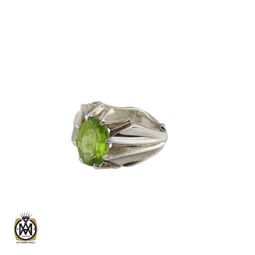 انگشتر زبرجد مردانه مرغوب و معدنی - کد 8550 - 1 423 510x510