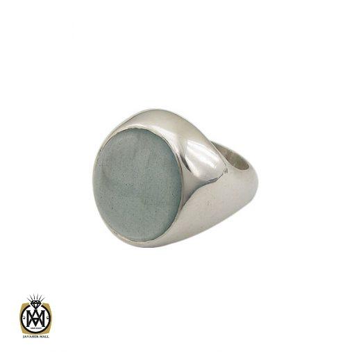 انگشتر آکوامارین مردانه درشت و معدنی - کد 8553 - 1 426 510x510