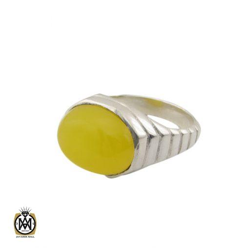 انگشتر عقیق زرد با حکاکی شرف الشمس مردانه - کد 8387 - 1 53 510x510