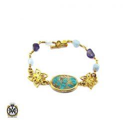دستبند آمتیست طرح ژالین زنانه - کد 1096 - 1 82 247x247