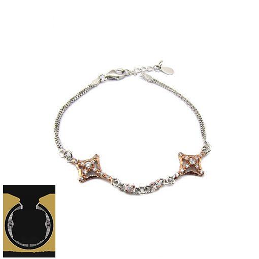 دستبند نقره طرح ثمین زنانه - کد 1071 - 1 86 510x510