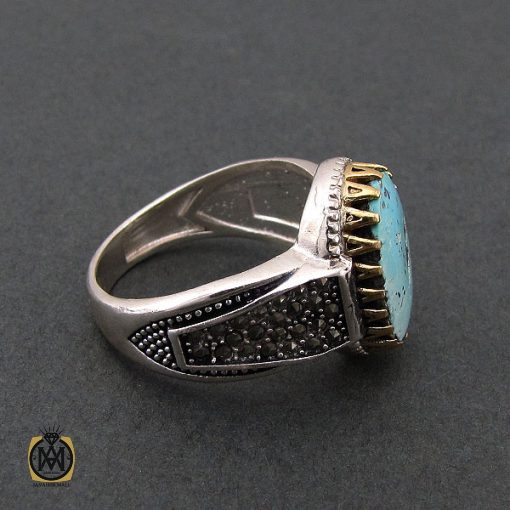 انگشتر فیروزه نیشابوری مردانه - کد 8398 - 2 112 510x510