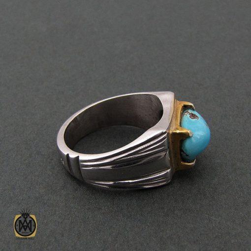 انگشتر فیروزه نیشابوری مردانه - کد 8399 - 2 113 510x510