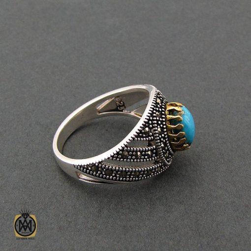 انگشتر فیروزه نیشابوری مردانه - کد 8400 - 2 114 510x510