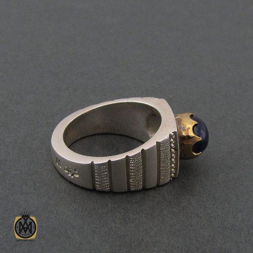 انگشتر یاقوت کبود استار مردانه - کد 8402 - 2 116 510x510