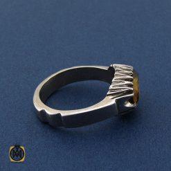 انگشتر سیترین مردانه اصل و معدنی - کد 8411