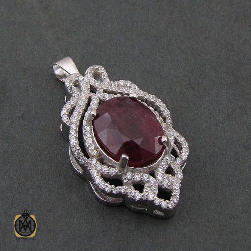 مدال یاقوت سرخ زنانه طرح دریتا - کد 3082 - 2 191 510x510