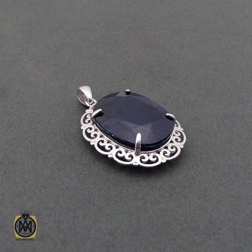 مدال یاقوت کبود زنانه مرغوب و معدنی طرح دلارام - کد 3083 - 2 192 510x510