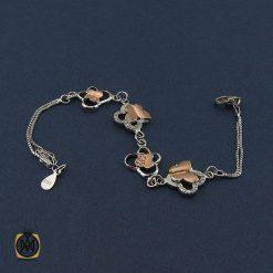 دستبند نقره زنانه طرح پروانه - کد1075 - 2 209 247x247