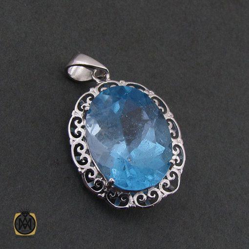 مدال توپاز آبی زنانه طرح دنیز – کد ۳۰۸۴