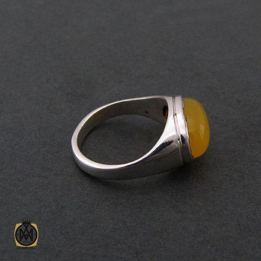 انگشتر عقیق زرد با حکاکی شرف الشمس مردانه - کد 8375 - 2 41 510x510