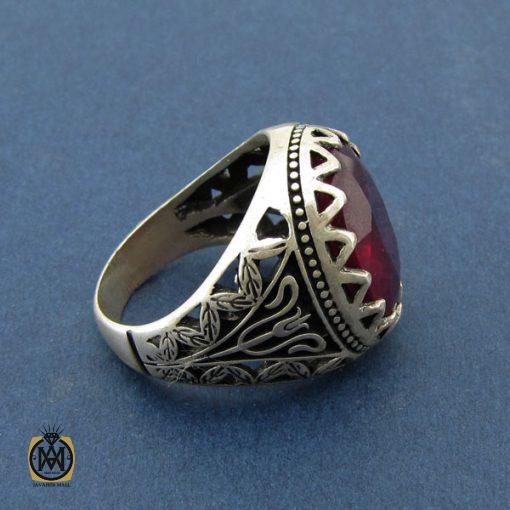 انگشتر یاقوت سرخ آفریقایی خوش رنگ مردانه  – کد ۸۵۴۴