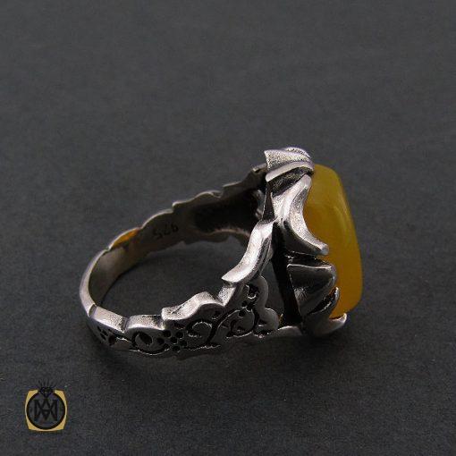 انگشتر عقیق زرد با حکاکی شرف الشمس مردانه - کد 8376 - 2 42 510x510