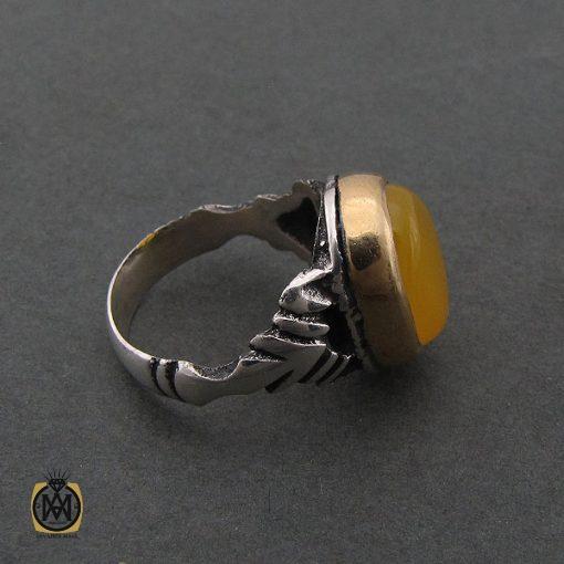 انگشتر عقیق زرد با حکاکی شرف الشمس مردانه - کد 8384 - 2 50 510x510