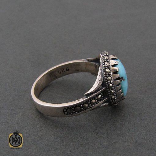 انگشتر فیروزه نیشابور زنانه طرح هستی - کد 2072 - 2 9 510x510