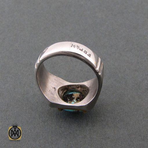 انگشتر فیروزه نیشابوری مردانه – کد ۸۳۹۹